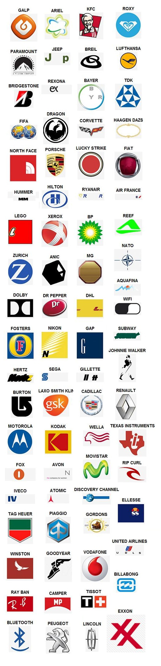 Antwoorden logo quiz level 4